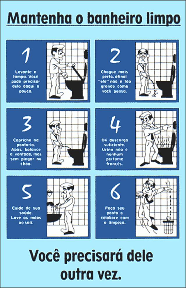 Avisos Educados para o Banheiro  Escalafobético -> Banheiro Feminino Limpo