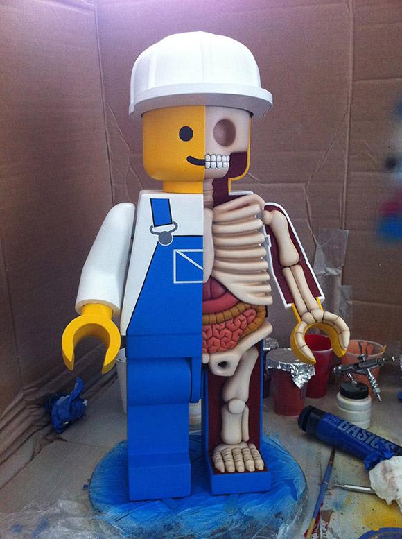 esqueleto e anatomia do lego