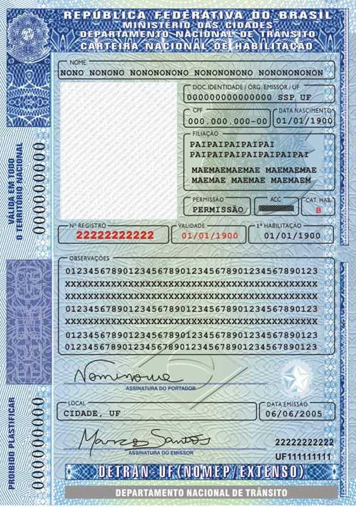 nova cnh carteira nacional de habilitação