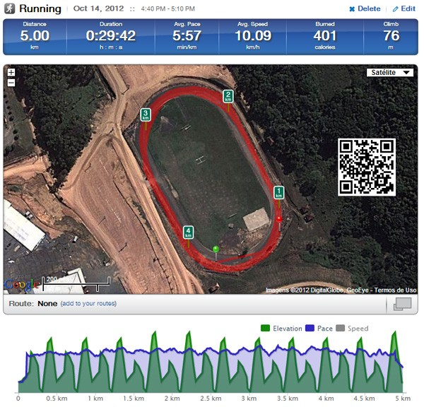 gps corrida 5km