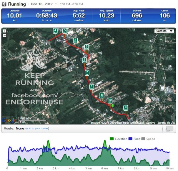 gps corrida 10km
